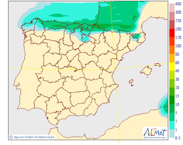 Precipitación media AEMET. 27 Meteosojuela La Rioja