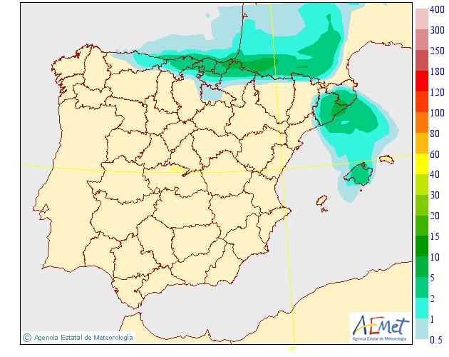 Precipitación media AEMET. 29 Meteosojuela La Rioja