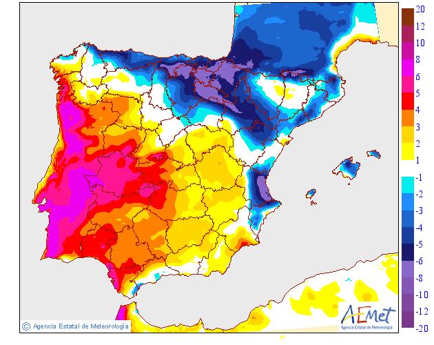 Variación de temperaturas máximas AEMET.11 Meteosojuela