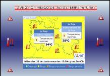 Aviso Temperatura Máxima AEMET. Meteosojuela