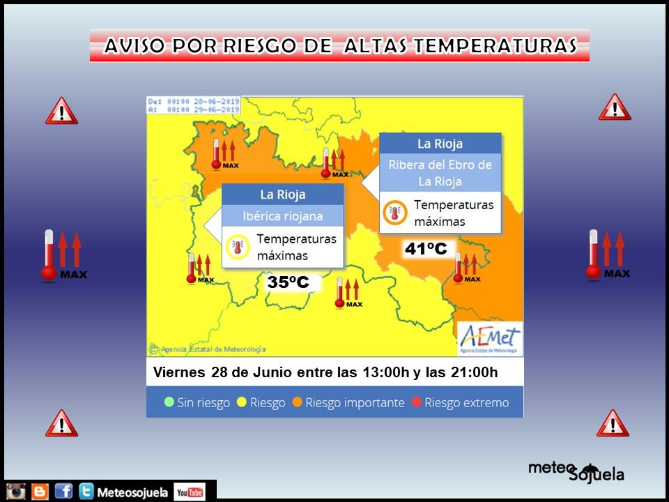 Aviso Temperatura Máxima AEMET.28 Meteosojuela