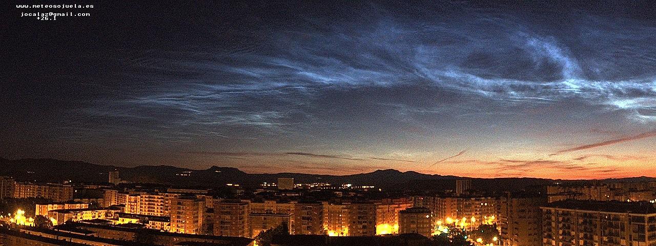 Nubes noctilucentes. Logroño Meteosojuela