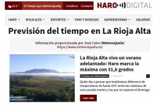 Portada Harodigital.com 01062019 Meteosojuela. La Rioja