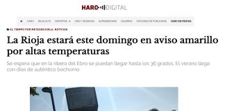 Portada Harodigital.com 23062019 Meteosojuela. La Rioja