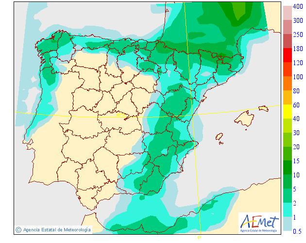 Precipitación media AEMET. 16 Meteosojuela La Rioja