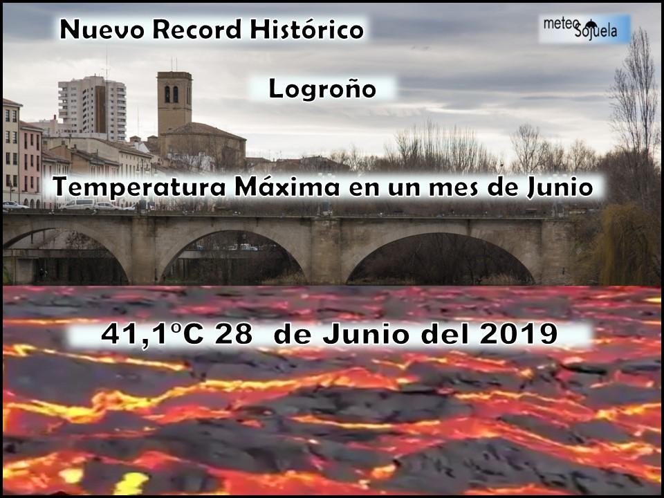 Record Temperatura Máxima 28 Junio 2019 Meteosojuela