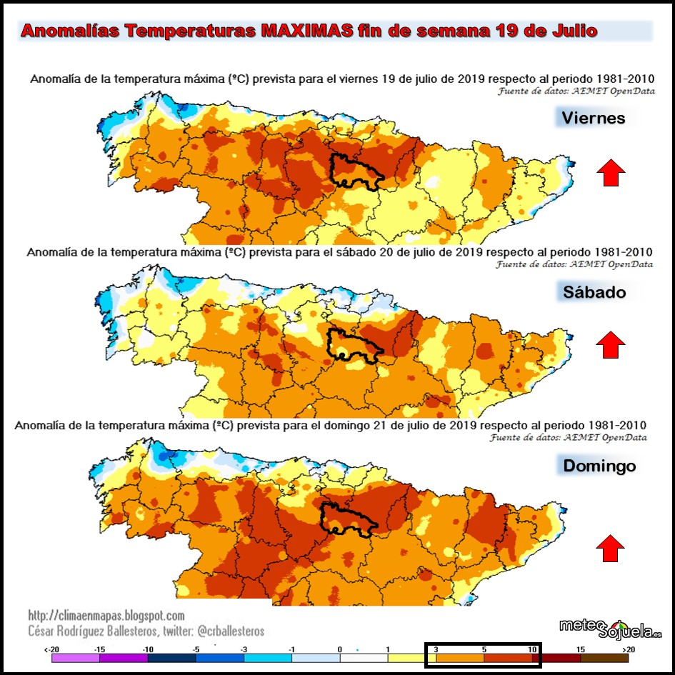 Anomalías Temperaturas Máximas.@cesar Meteosojuela