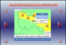 Aviso Amarillo Altas temperaturas AEMET. Meteosojuela