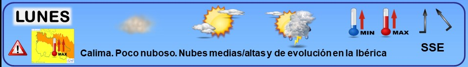 Leyenda. Iconos, simbolos tiempo en La Rioja. Meteosojuela La Rioja 22