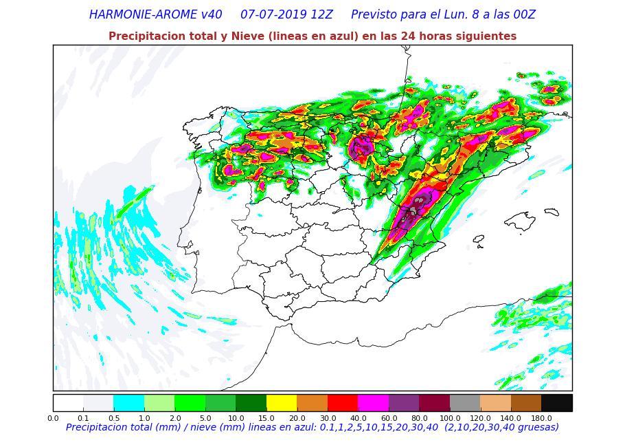Modelo HARMONIE precipitación acumulada. Meteosojuela