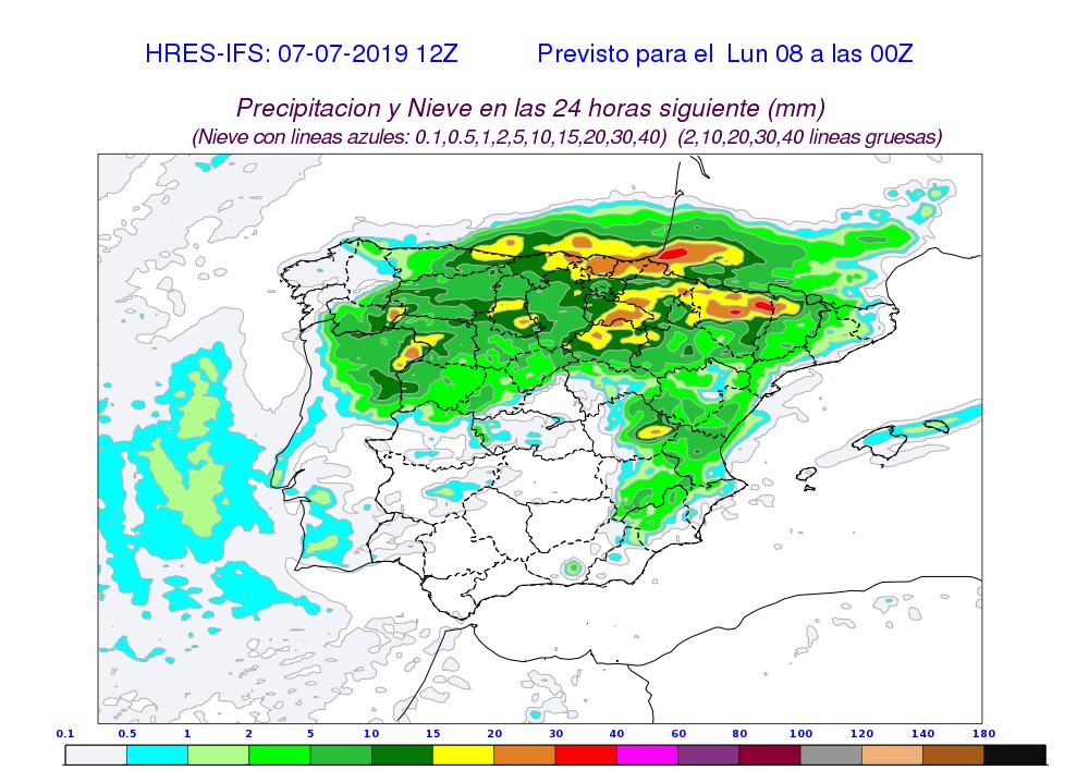 Modelo HRES-IFS precipitación acumulada. Meteosojuela