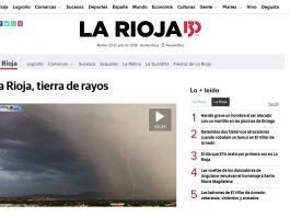 Portada larioja.com 23072019 Meteosojuela. La Rioja