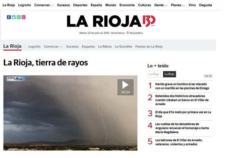Colaboración con el diario digital larioja.com. 23/07/2019
