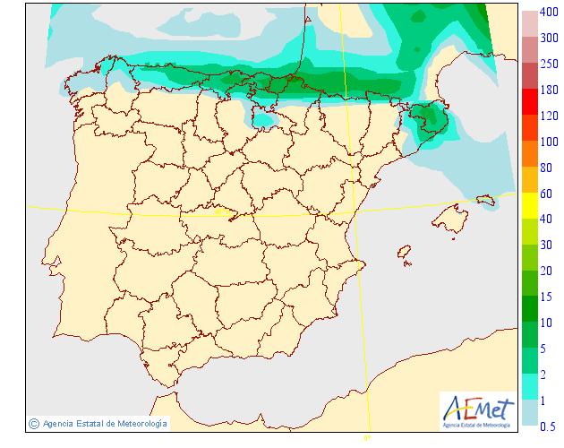 Precipitación Media según AEMET. 28 Meteosojuela La Rioja