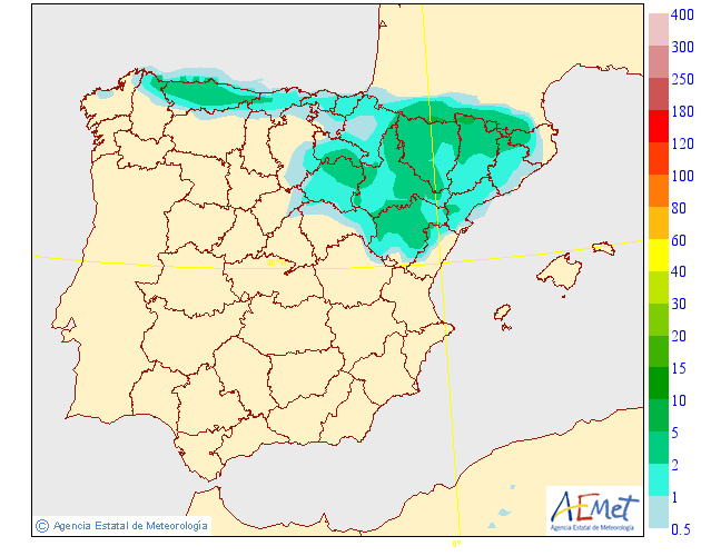 Precipitación Media según AEMET.17 Meteosojuela La Rioja