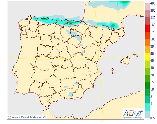 Precipitación Media según AEMET.21 Meteosojuela La Rioja