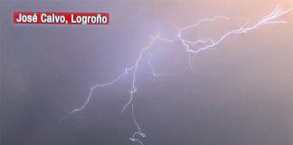 Rayo en Logroño. El tiempo de Cuatro Meteosojuela