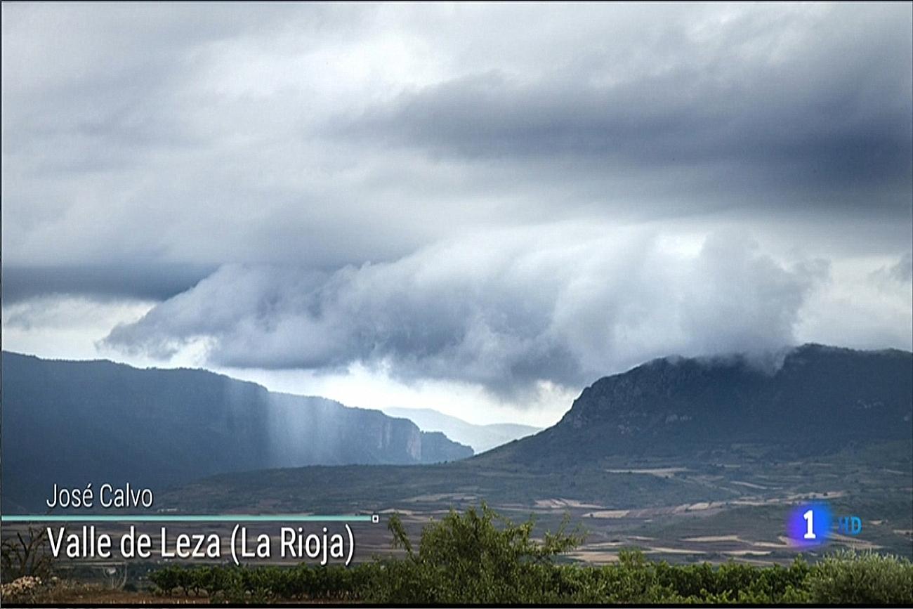 Tormenta en el valle del Leza. El tiempo de TVE1.Meteosojuela