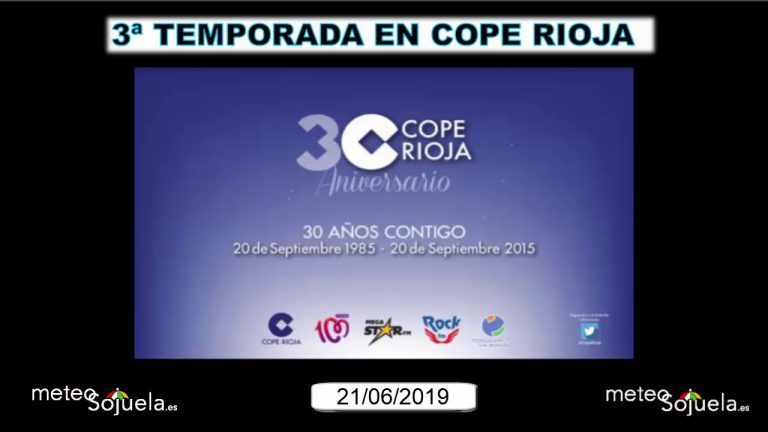 Meteosojuela en la radio. COPE RIOJA. 12/07/2019