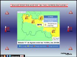 Aviso Amarillo por Altas Temperaturas. AEMET. 17 Meteosojuela
