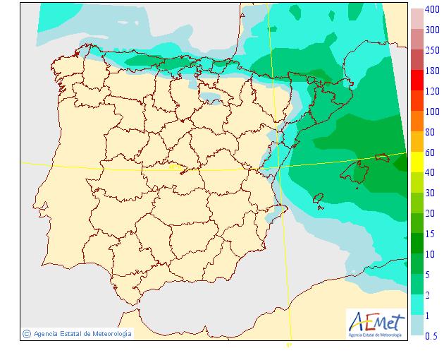 Precipitación Media según AEMET 2 . Meteosojuela La Rioja