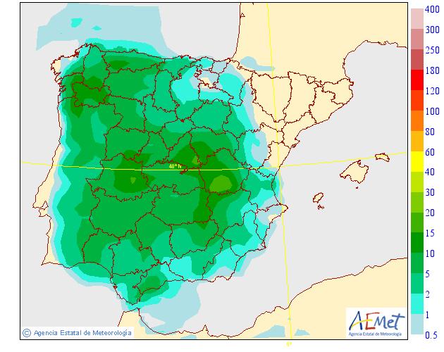 Precipitación Media según AEMET 26 . Meteosojuela La Rioja