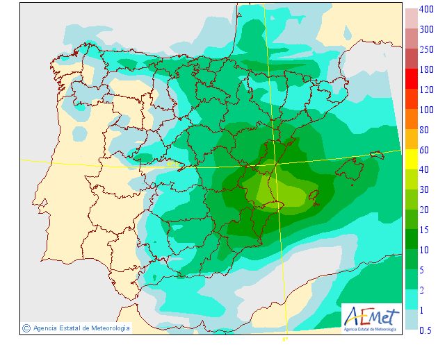 Precipitación Media según AEMET 27 . Meteosojuela La Rioja