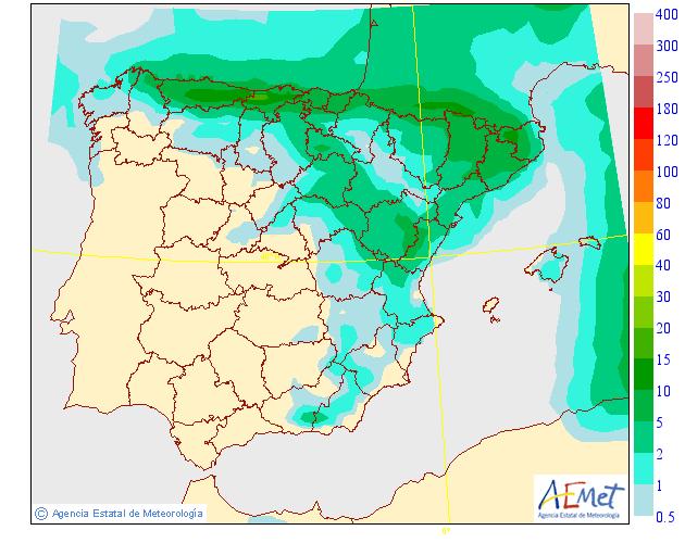 Precipitación Media según AEMET. 01 Meteosojuela La Rioja