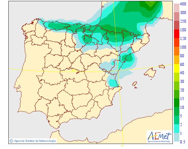 Precipitación Media según AEMET. 19 Meteosojuela La Rioja