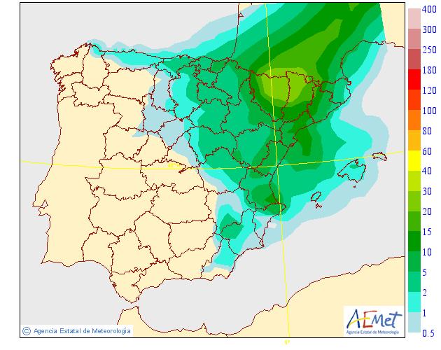 Precipitación Media según AEMET.20 Meteosojuela La Rioja