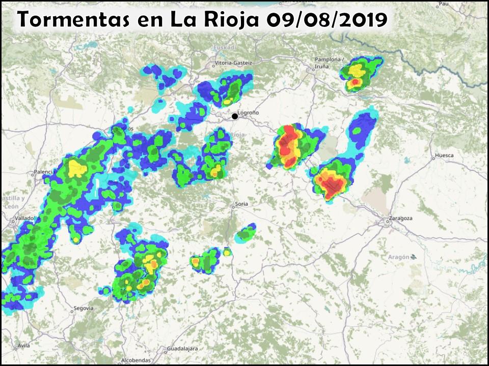Tormentas en La Rioja. Meteosojuela
