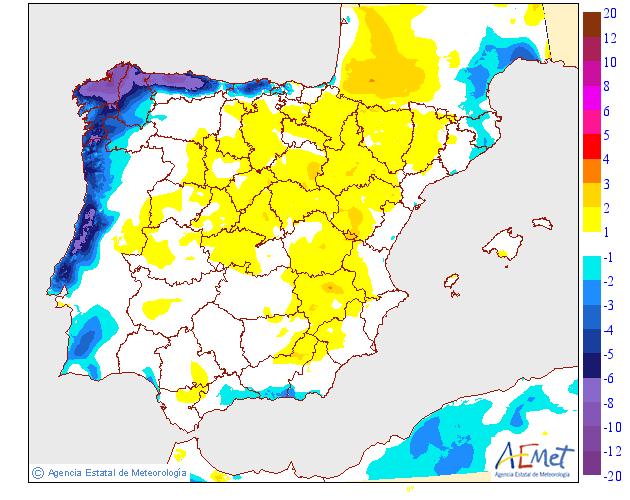 Variación de temperaturas máximas AEMET 24 . Meteosojuela