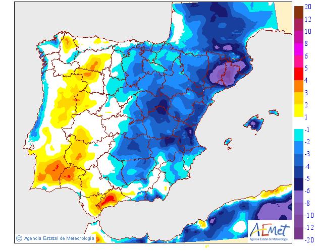 Variación de temperaturas máximas AEMET.27 Meteosojuela