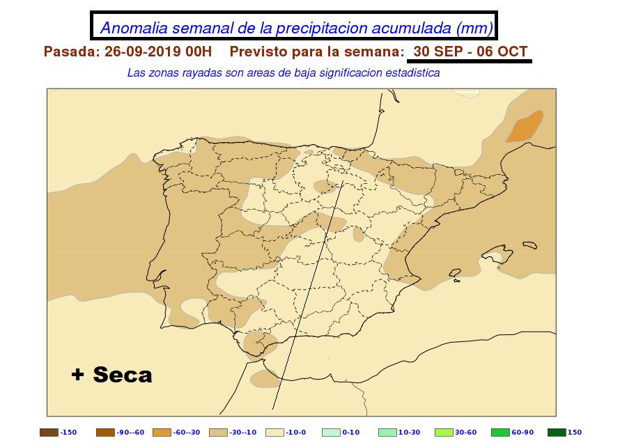 Anomalía de precipitación AEMET. Meteosojuela