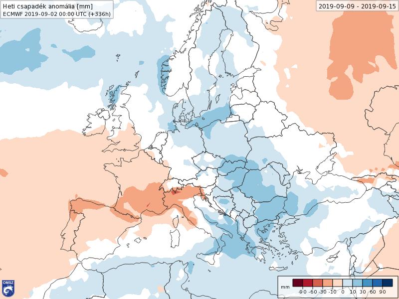 Anomalías Precipitación Septiembre 2 semana ECMWF