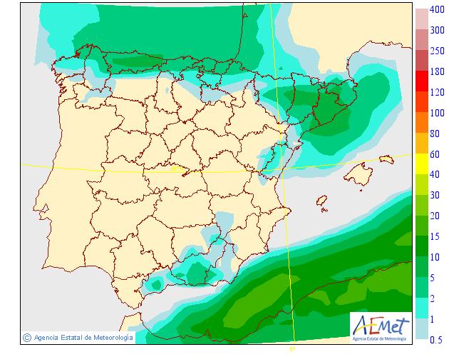 Precipitación Media según AEMET. 09 Meteosojuela La Rioja