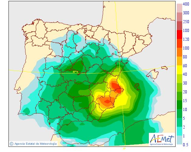 Precipitación Media según AEMET.13 Meteosojuela La Rioja