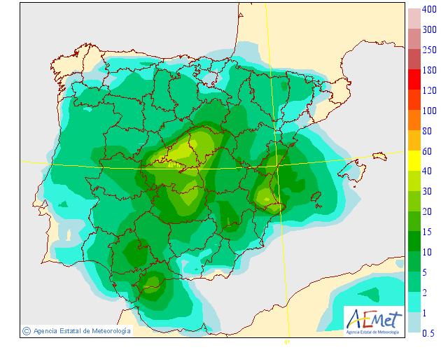 Precipitación Media según AEMET.14 Meteosojuela La Rioja
