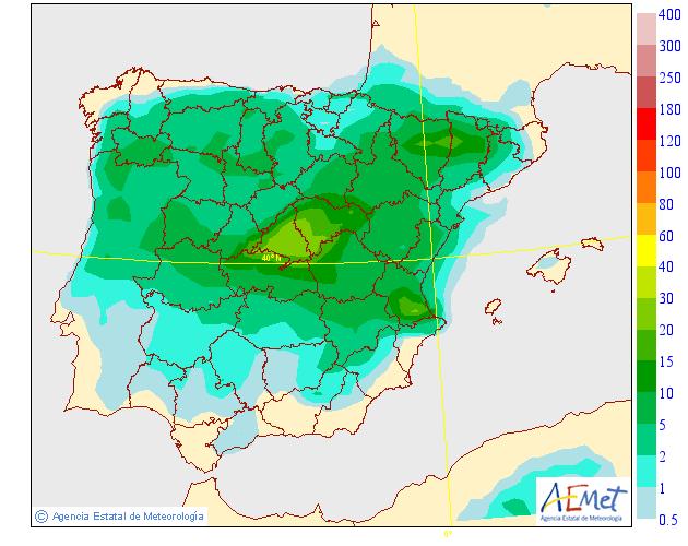 Precipitación Media según AEMET.15 Meteosojuela La Rioja