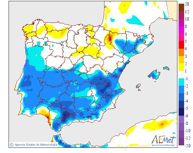 Variación de temperaturas máximas AEMET 06. Meteosojuela