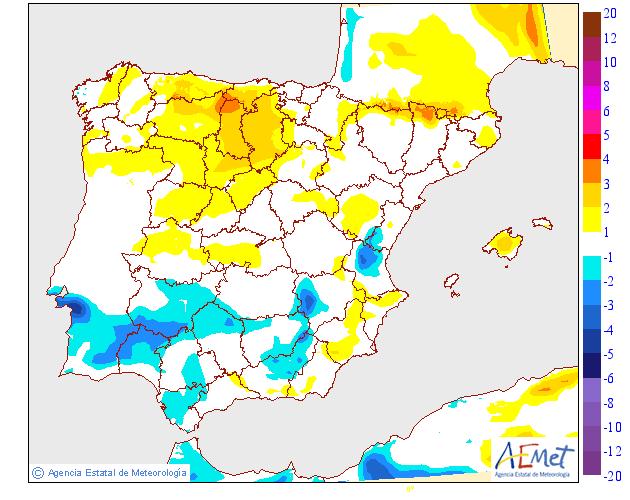 Variación de temperaturas máximas AEMET 07. Meteosojuela