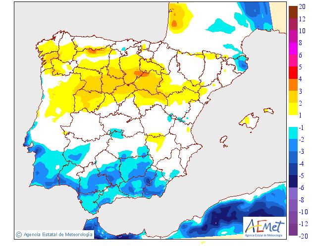 Variación de temperaturas máximas AEMET 08. Meteosojuela