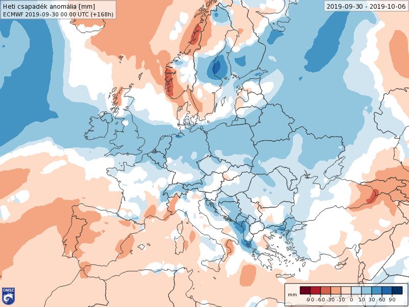 Anomalías Precipitación Octubre 1 semana ECMWF