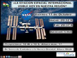Datos paso de Estación Espacial ISS Meteosojuela.