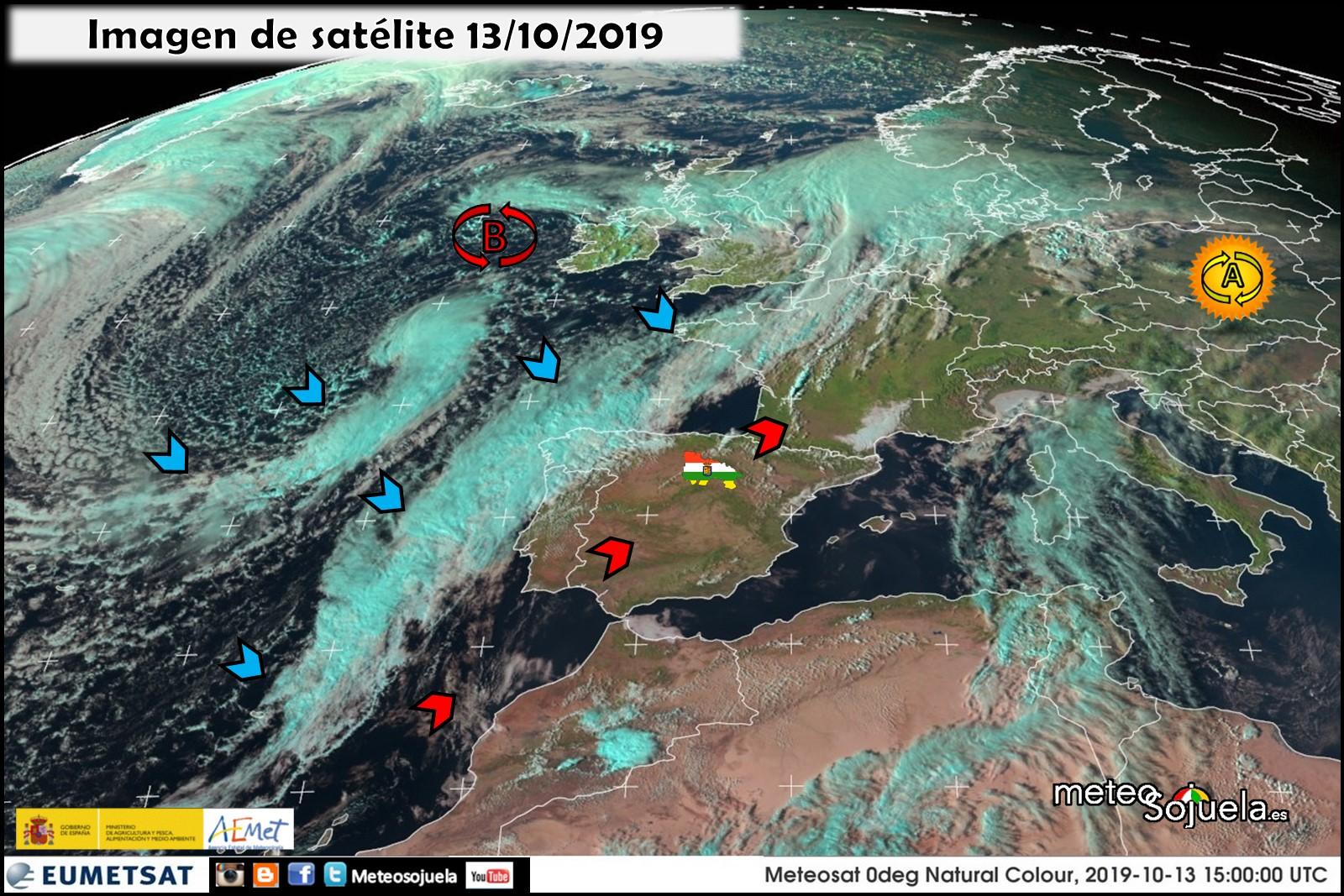 Imágen de satélite Frentes Atlánticos.Meteosojuela