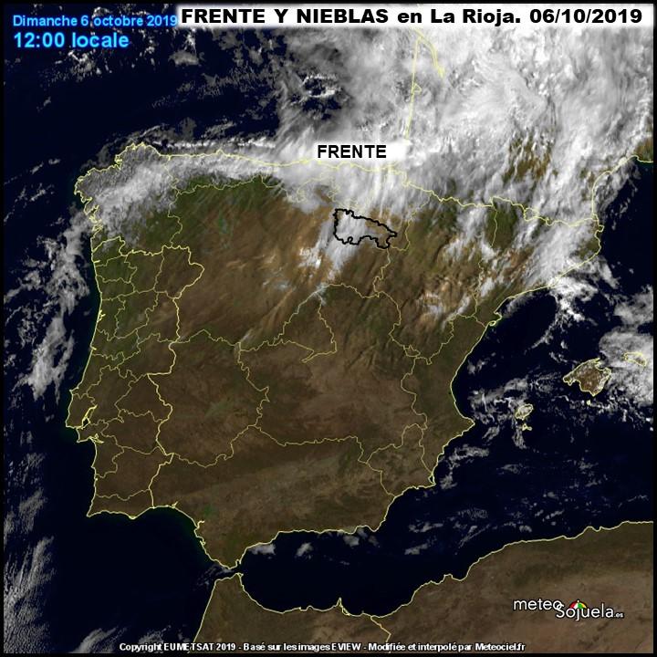 Imagen Satelite Frente. Meteosojuela