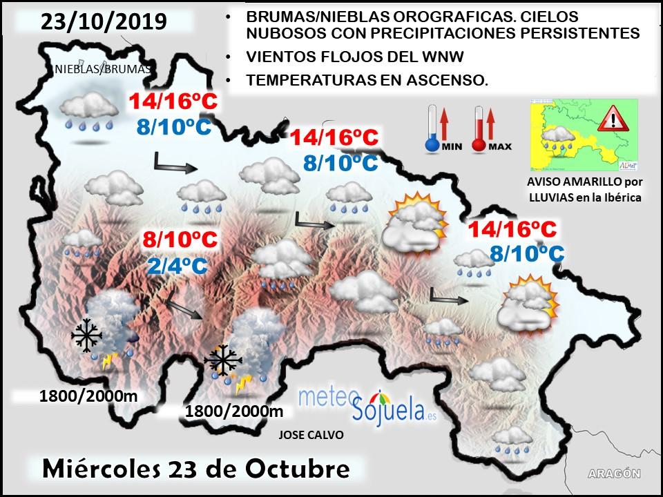 El Tiempo De Hoy En La Rioja 23 10 2019 Lluvioso