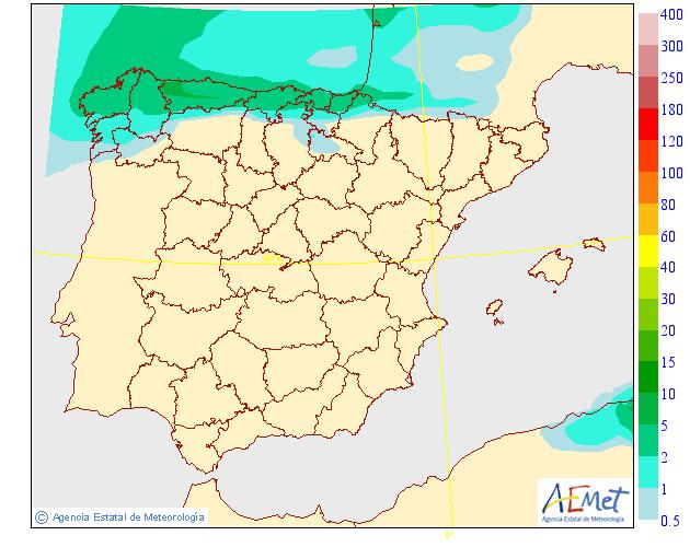 Precipitación Media según AEMET. Meteosojuela La Rioja 08