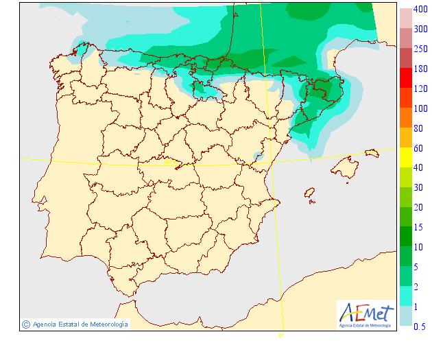 Precipitación Media según AEMET. Meteosojuela La Rioja 09