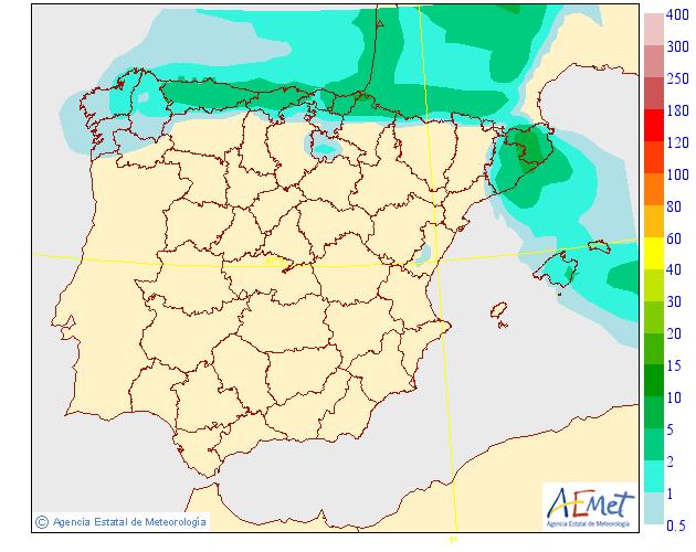 Precipitación Media según AEMET.06 Meteosojuela La Rioja